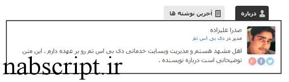 بیوگرافی نویسنده در پلاگین فارسی سازی شده ی fancier author box