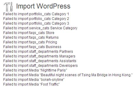 import wordpress errors 10 مشکل رایج در قالب های وردپرس و راه حل آن ها   بخش1
