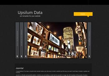 قالب زیبای upsilum data برای جوملا
